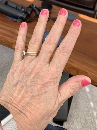 Gel nails, pink