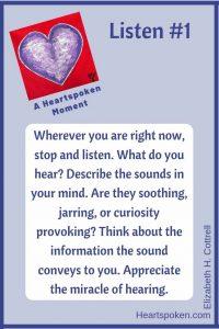 Heartspoken Moment: Listen (Pinterest)