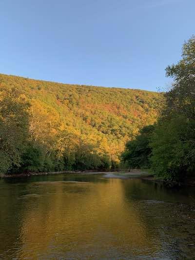 Massanutten Mountain and Shenandoah River in October