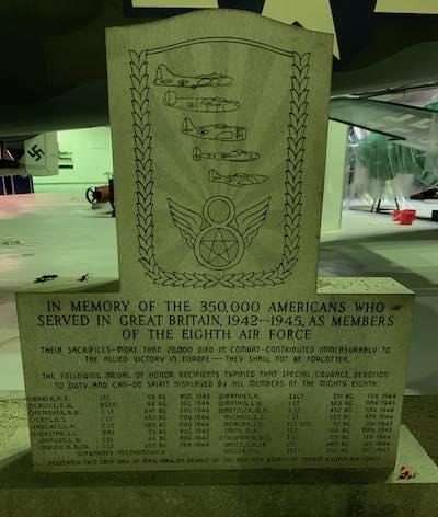 8th Air Force Memorial Plaque at RAF Museum London