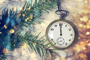 Happy New Year - pine anc pocket watch