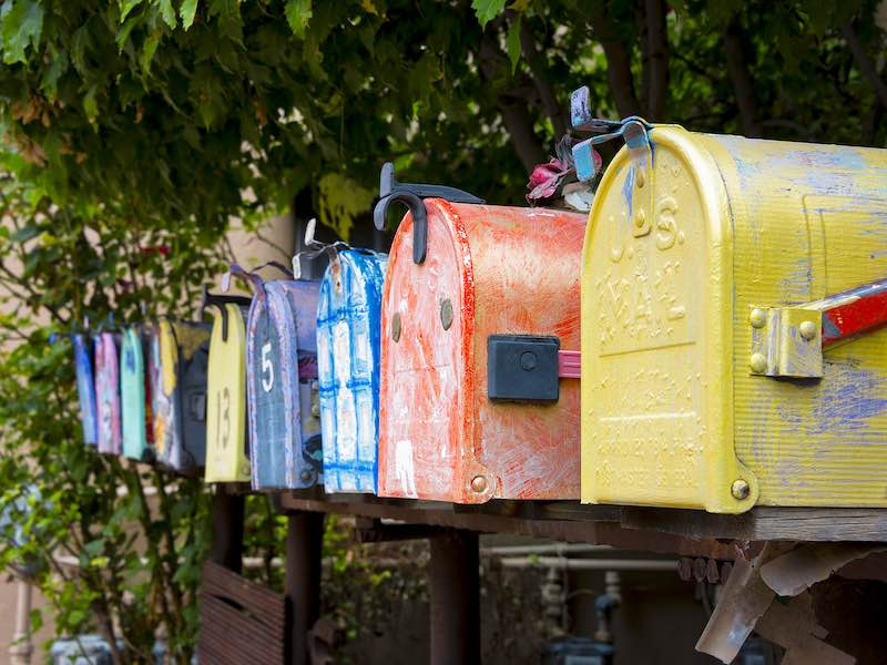 Mailboxes for snail mail and heartspoken letters