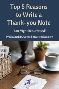 Top 5 reasons to write thank-you notes