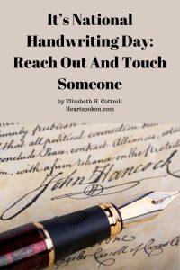 National Handwriting Day: John Hancock signature and pen