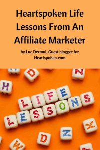 Life Lessons from an affiliate marketer